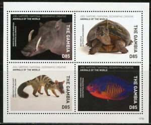 GAMBIA-2018-NATIONAL-GEOGRAPHIC-SHEET-OF-FOUR-MINT-NEVER-HINGED