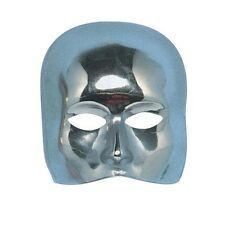 Plain Half Face Silver Mask