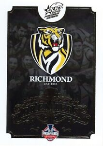 New-2019-RICHMOND-TIGERS-AFL-Premiers-Card-CLUB-LOGO-1-of-25