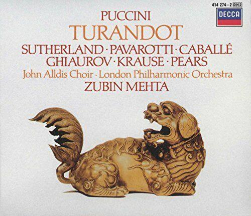 Puccini - Turandot/Suth/Pav/Lpo/Mehta Dh2 (NEW CD)