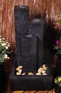 Kugelbrunnen mit Schiefer-Optik und LED-Beleuchtung Garten Brunnen Wasserspiele