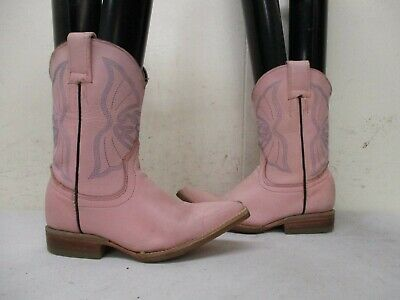 47d85f11221 JAR Pink Leather Pointed Toe Cowboy Boots Toddler Size 6 | eBay