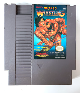 Nintendo NES Tecmo World Wrestling Video Game Cartridge Tested WORKING Authentic