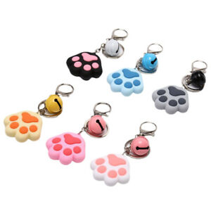 Colorful-Cat-Claw-Bell-Soft-Rubber-Key-Chain-Keyring-Car-Key-Holder-Pendant-G-ST