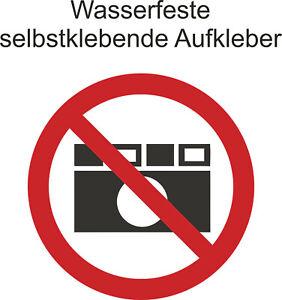 Hinweis-Verbot-s-Aufkleber-Fotografieren-verboten-Sticker-ab-5cm-Uv-fest