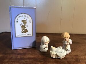 Vintage Heavenly Blessing Nativity Collection Avon Baby Jesus Mary Joseph 1986