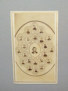 Antique-Vtg-Ca-1870s-CDV-Group-Class-Photo-Eastmans-Business-College-Very-Nice