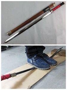 Chinese-Sword-034-Han-Jian-034-Alloy-Fitting-High-Manganese-Steel-Sharp-Blade-Handmade
