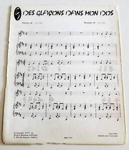 Partition-vintage-sheet-music-YVES-SIMON-Des-Glacons-dans-mon-Dos-60-039-s