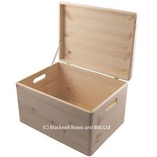 Pine wood box with lid wedding / memory / craft storage BPU170 39.5x29.5x23.5CM