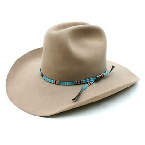 7051f93d Stetson Men's 6-7/8 Western Cowboy Hat 4X Tan Fawn Turquoise Beaver ...