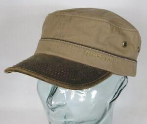 22e71c5275884c Das Bild wird geladen STETSON-Army-Cap-Kuba-Muetze-Baumwolle-Basecap-braun-