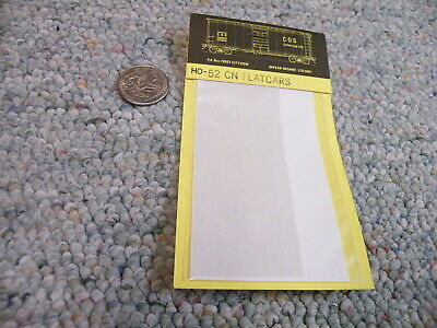 CDS Dry Transfer decals HO HO-52 Canadian National CN flatcars    F193