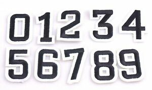 NUMBERS- Iron On Patch/You Choose/Personalized Patches/Clothing Patches/ Embroidered