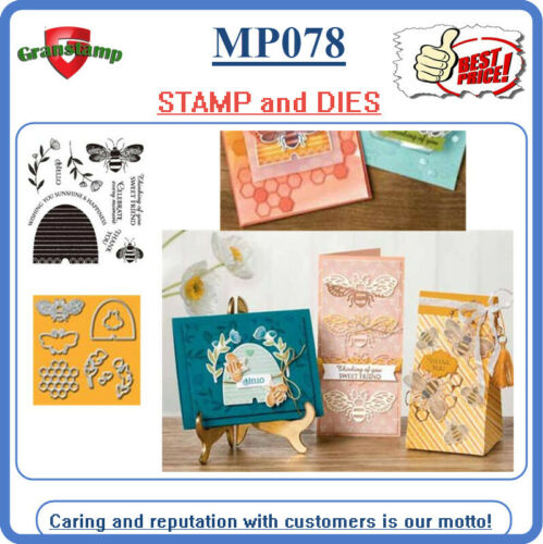 MP078 HONEY BEE Metal Cutting Dies and Stamps