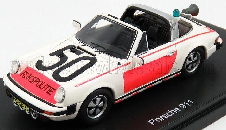 Wonderful SCHUCO-modelcar PORSCHE 911 TARGA  RIJKSPOLITIE (NL)  - scale 1 43