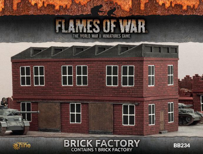 Campo de batalla en una caja-llamas de la guerra  ladrillo de fábrica BB234