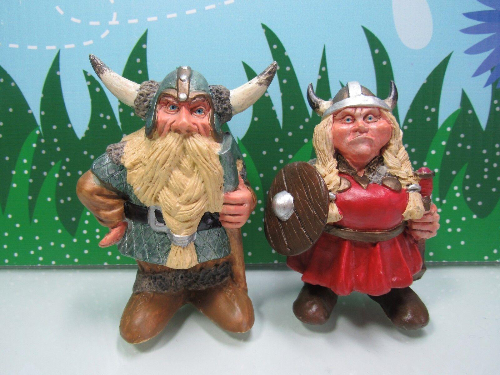 VIKING COUPLE - 4  Nord Suvenir Norwegian Troll - Rare