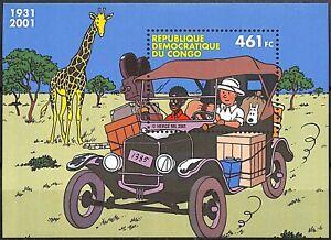 SPEC016-TINTIN-au-congo-le-bloc-BD-emission-commune-avec-la-Belgique-mnh