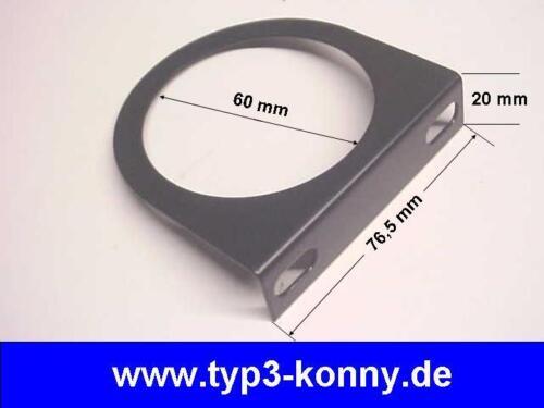 1-fach Halter Konsole f 60mm Instrumente Gauges Mattschwarz pulverbeschichtet