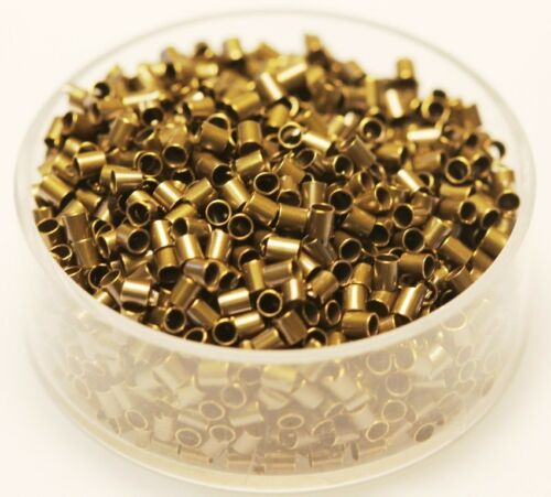 Vintage Brass Tube Crimp Beads 2 x 2 mm 1000 Pcs. Solid Brass USA Hole 1.5 mm