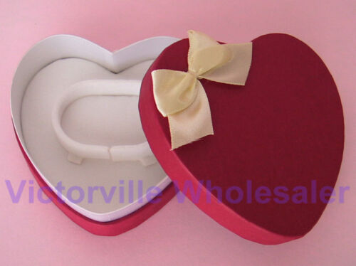 NEW Red Heart-Shape Bangle Box with Bow #280 BUY MORE /& SAVE
