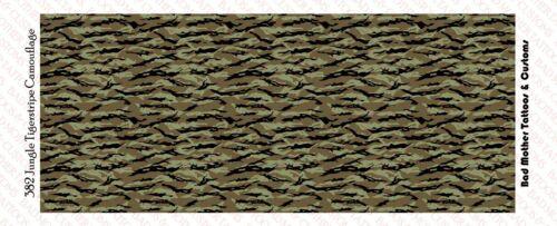 Camouflage Tiger Stripe Jungle Vert Waterslide Decals 1//18 Scale Figures