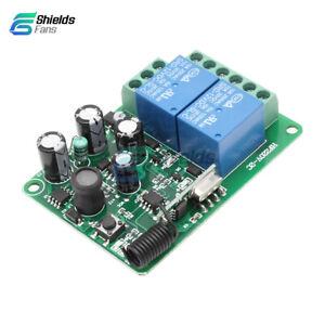 AC-220V-433MHz-2CH-Channel-Wireless-RF-Relay-Remote-Control-Switch-Receiver-10A