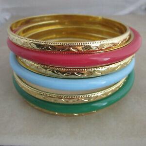 set-of-8-bangle-bracelets-gold-red-blue-green