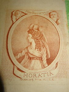 GRAVURE-ANGLAISE-XVIII-SANGUINE-PORTRAIT-FEMME-THEATRE-BRUNTON-MARIE-ANTOINETTE