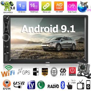 7-034-2Din-Android-9-1-Quad-Core-GPS-WiFi-Car-Radio-Stereo-MP5-Player-FM-w-Camera