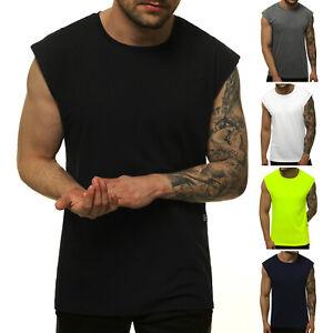 Tanktop T-Shirt Muskel Achsel Sport Fitness Basic Sommer Herren OZONEE 10019 MIX