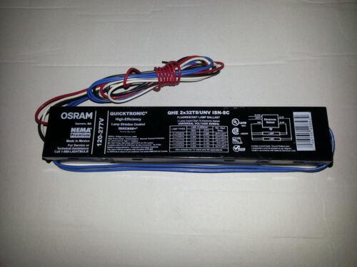 OSRAM 2-LAMP BALLAST QHE 2X32T8//UNV ISN-SC FLUORESCENT