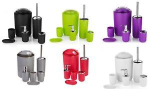 6-Pc-Plastic-Bathroom-Accessories-Set-Bin-Soap-Dish-Dispenser-Tumbler-UK-SELLER