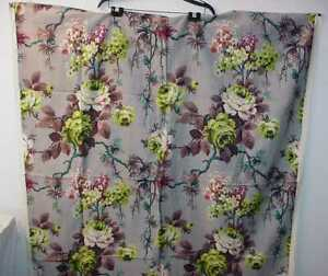 VINTAGE-FLORAL-COTTON-TWILL-OR-BARKCLOTH-PANEL-FLOWER-POWER