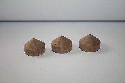 Oscarsaudio Walnuss Kegel Füße Set Of 3 Kegel 30 Mm X 25 Mm üBerlegene Materialien Cd-player & -recorder