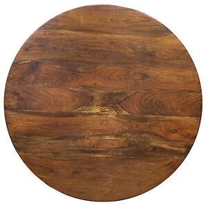 Ripiano piano per tavolo in legno massello di palissandro, diametro ...