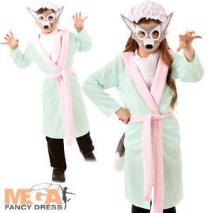 Discret Big Bad Wolf Kids Déguisement Conte De Fées Animal Garçons Filles Livre Jour Costume-afficher Le Titre D'origine