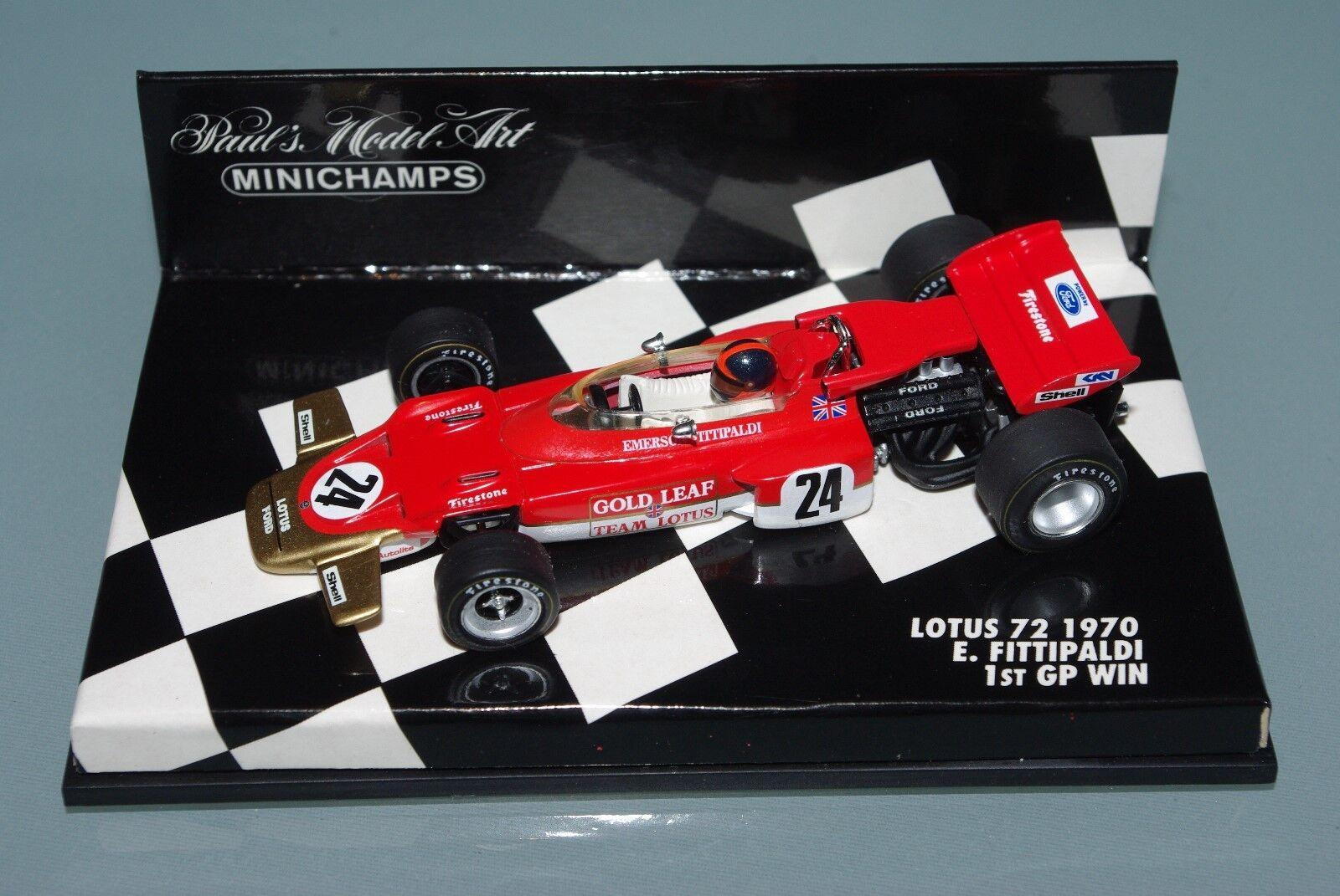 Minichamps F1 1 43 LOTUS 72 1970 - EMERSON FITTIPALDI - 1st GP WIN