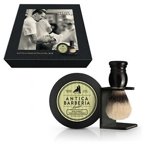 detailed pictures differently factory price Details about Ancient Barbary: Set Shaving Soap (balsamic) + Brush in  Bristle + Rack- show original title
