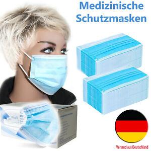 Medizinische OP Maske 3-lagig Mundschutz Einwegmaske Medizinprodukt DIN EN 14683
