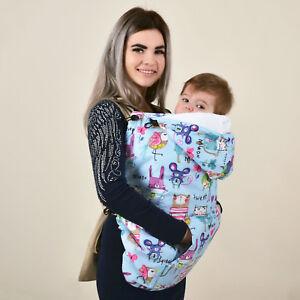 Winter Blue Babywearing Coat Extender Baby Carrier Cover