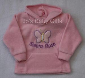Baby-Toddler-Hoodie-Jumper-Personalised-ANY-NAME-Embroidered-Gift-amp-Cute-Design