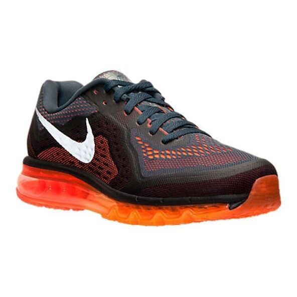 NIKE AIR MAX 2014 360 Dk Grey orange Running Training shoes NEW Mens Sz 7