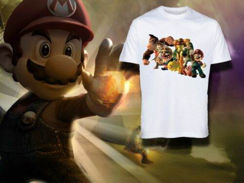 Garçons Super Mario Cartoon Kids T-shirts à encolure ras-du-cou à manches courtes coton Donkey Kong