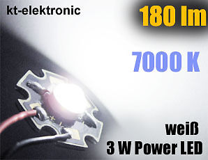 5 Stück Power LED 3W 700mA weiß 180 lm
