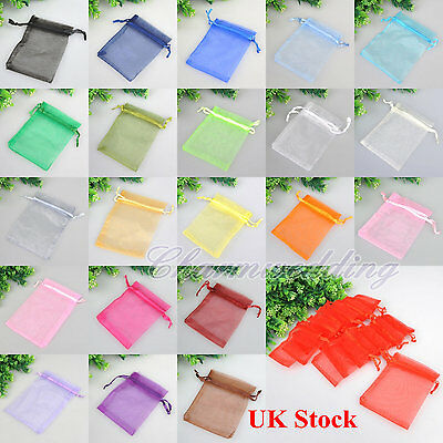 Organza Wedding Gift Candy Bags 7x9 9x12 10x16cm Party Favour Jewellery Pouches
