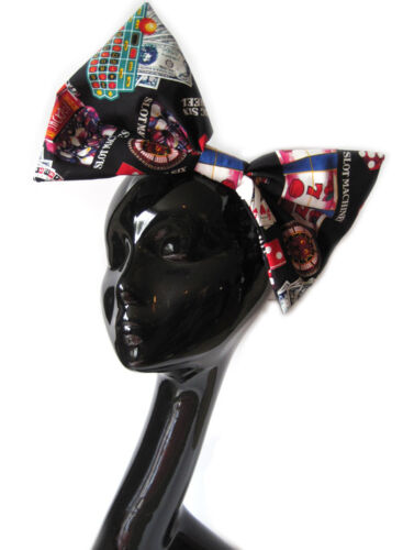 BIG GRANDE FIOCCO per capelli-ROULETTE CARTE Clip Indie GUAM Rockabilly 50s FASHION