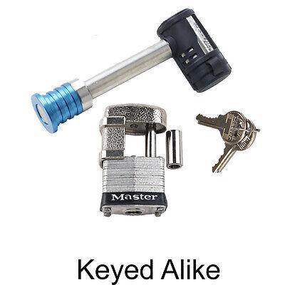 Locks Keyed Alike 1469KA-2 Master Receiver//Hitch Lock Extra Long Shaft Two 2