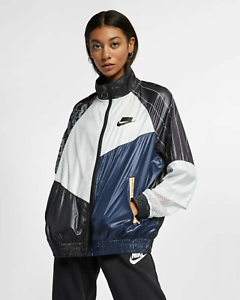 Details about Nike Womens Sportswear NSW Woven Track Jacket New Black White Active AR3025 010